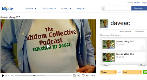 The Cultdom Collective t-shirt on daveac vblog 057